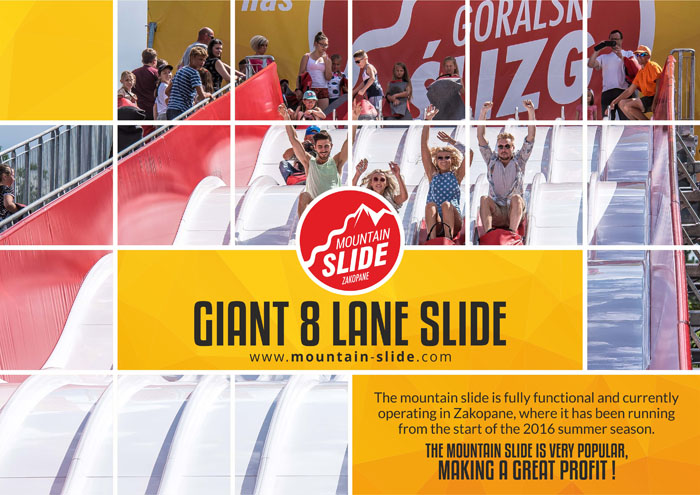 Giant 8 lane slide
